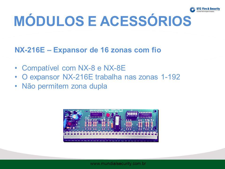 MÓDULOS E ACESSÓRIOS NX-216E – Expansor de 16 zonas com fio