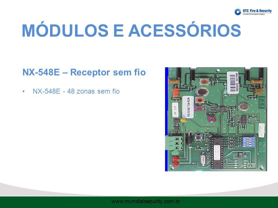 MÓDULOS E ACESSÓRIOS NX-548E – Receptor sem fio