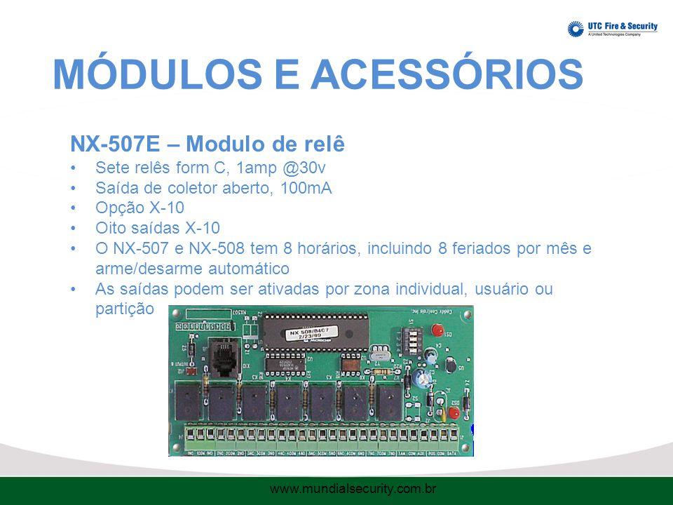 MÓDULOS E ACESSÓRIOS NX-507E – Modulo de relê