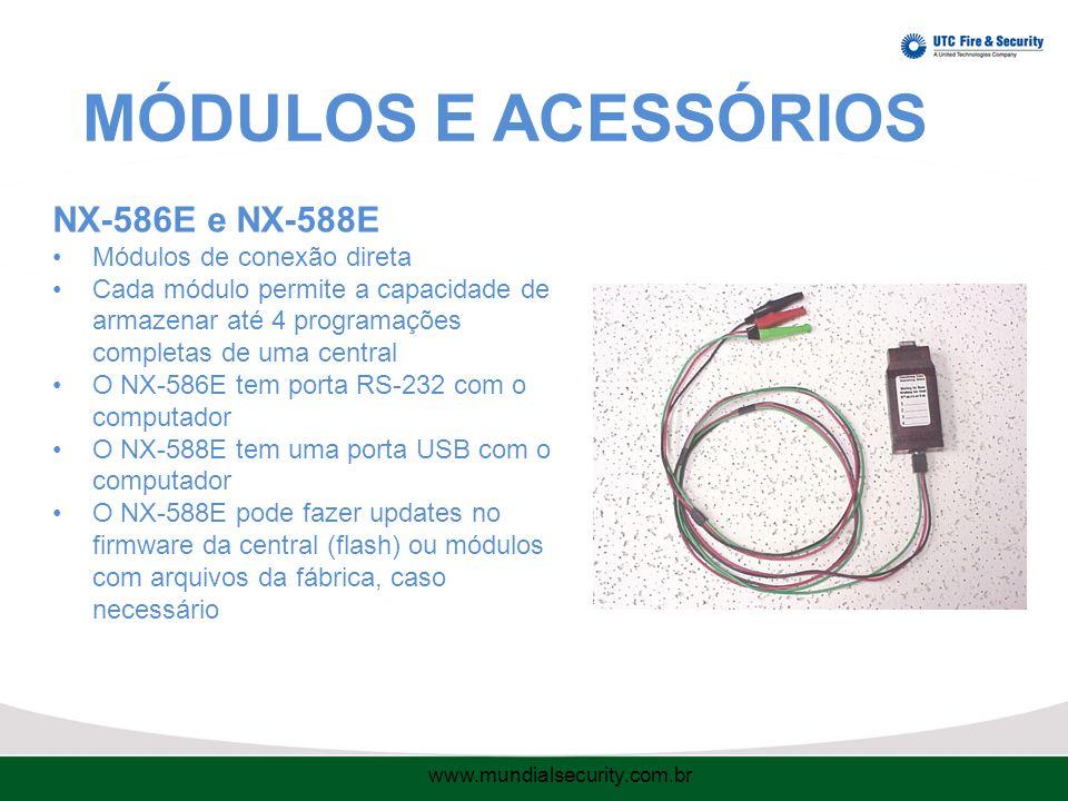 MÓDULOS E ACESSÓRIOS NX-586E e NX-588E Módulos de conexão direta
