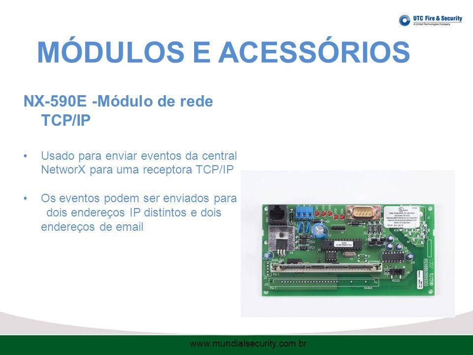 MÓDULOS E ACESSÓRIOS NX-590E -Módulo de rede TCP/IP
