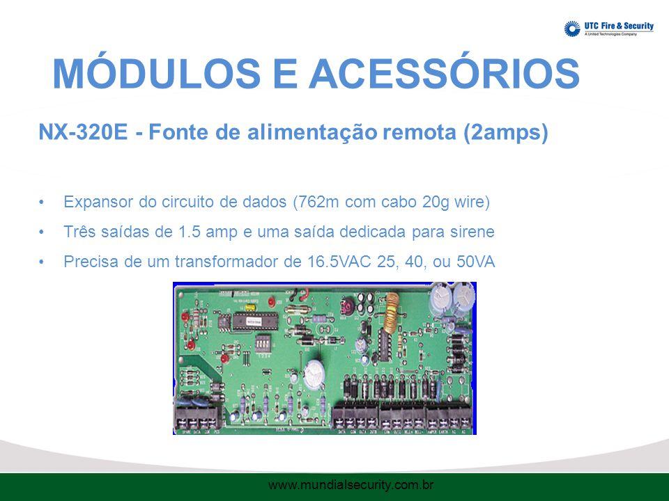 MÓDULOS E ACESSÓRIOS NX-320E - Fonte de alimentação remota (2amps)