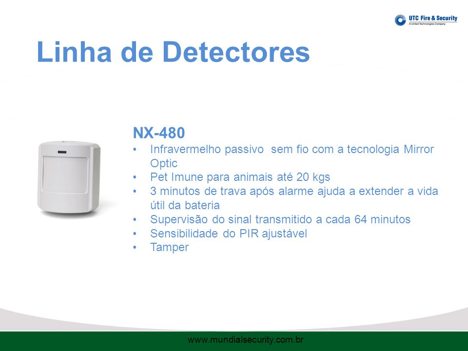 Linha de Detectores NX-480