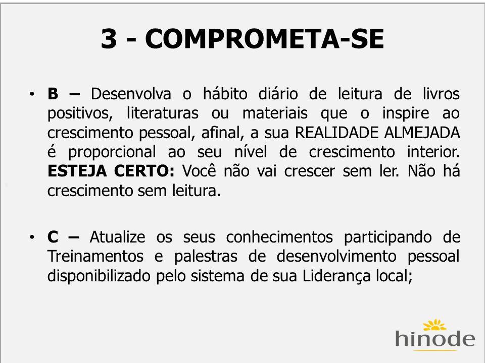 3 - COMPROMETA-SE COM O DESENVOLVIMENTO PRÁTICO DE SEU NEGÓCIO: