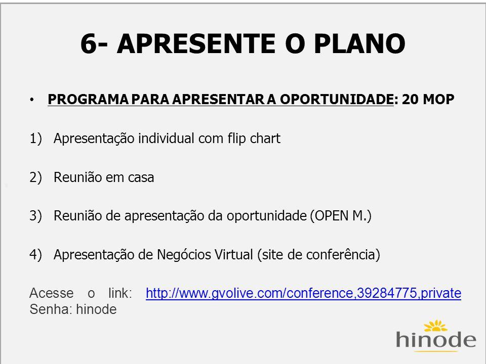 H 6- APRESENTE O PLANO.