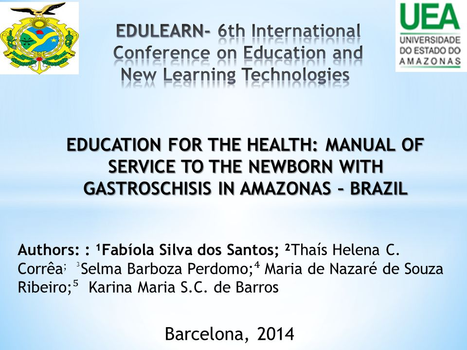 EDULEARN- 6th International Conference on Education and New Learning Technologies