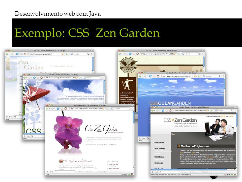 Exemplo: CSS Zen Garden