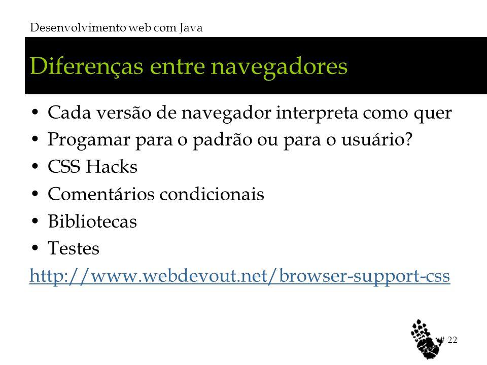 Diferenças entre navegadores