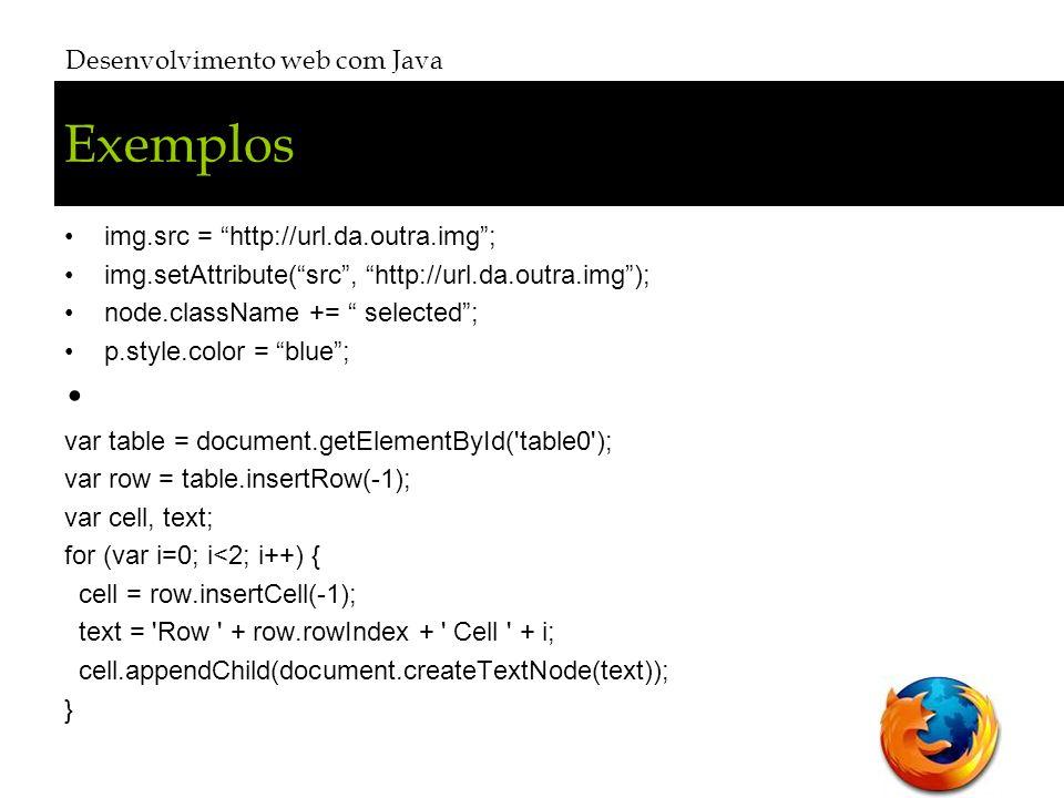 Exemplos Desenvolvimento web com Java