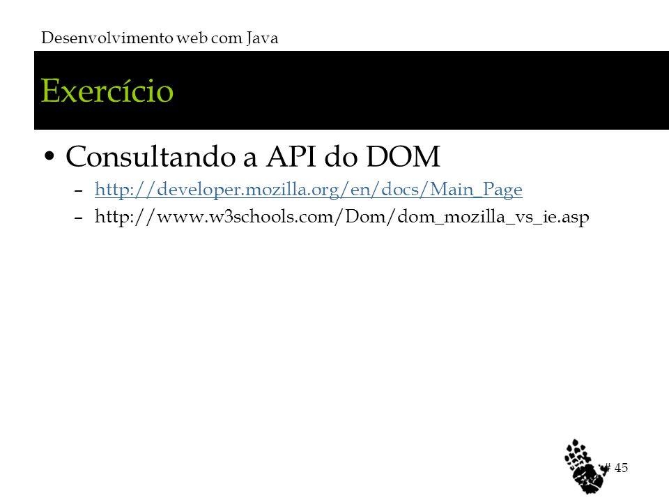 Exercício Consultando a API do DOM