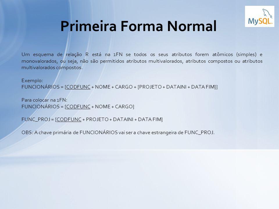Primeira Forma Normal