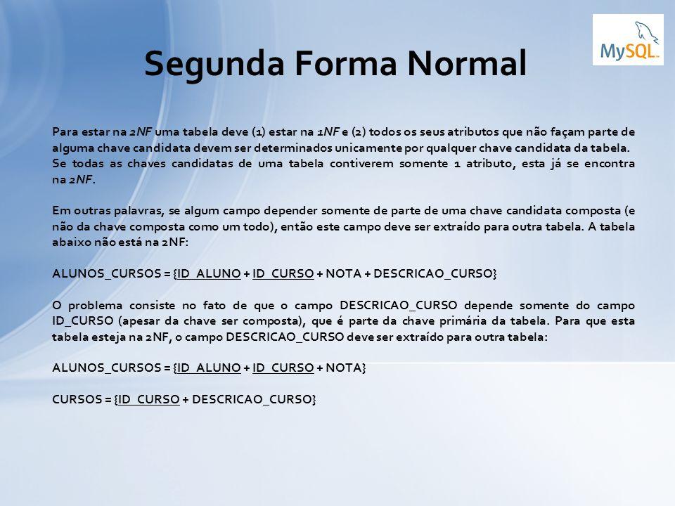Segunda Forma Normal