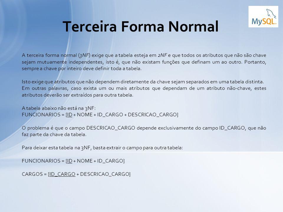 Terceira Forma Normal