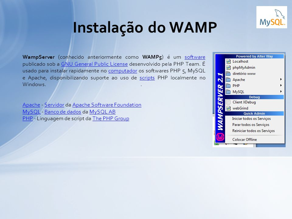 Instalação do WAMP