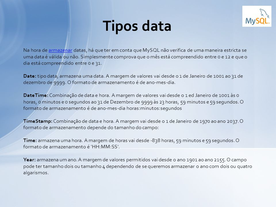 Tipos data