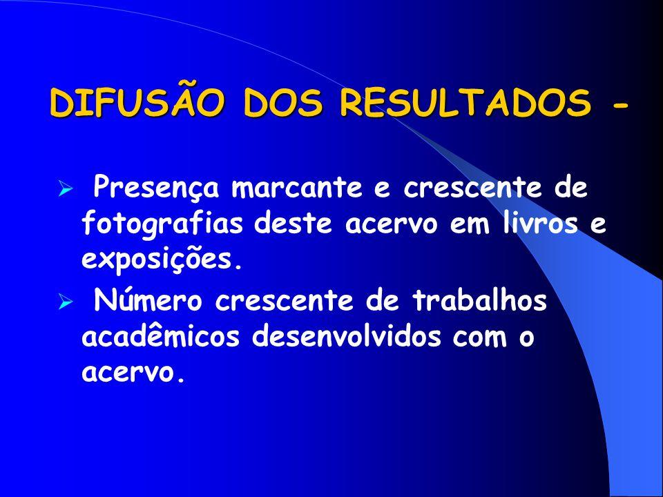 DIFUSÃO DOS RESULTADOS -