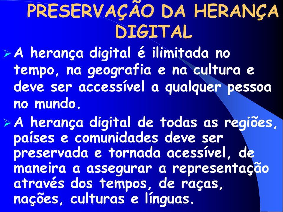 PRESERVAÇÃO DA HERANÇA DIGITAL