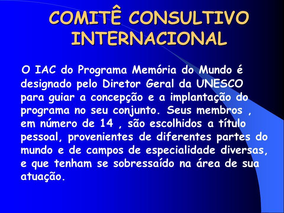 COMITÊ CONSULTIVO INTERNACIONAL