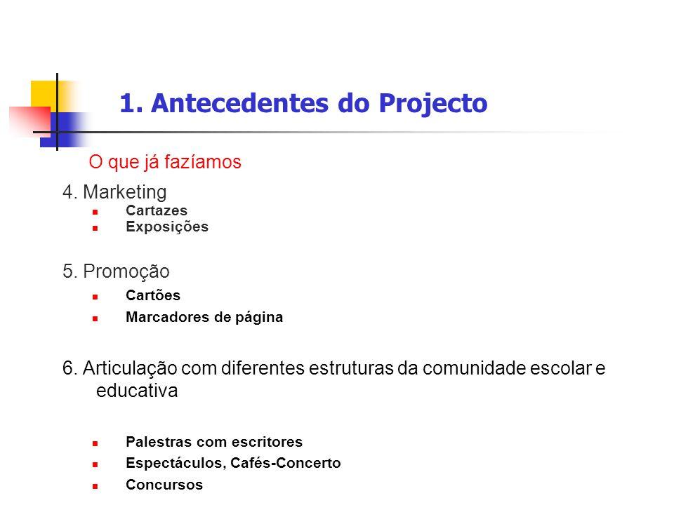 1. Antecedentes do Projecto
