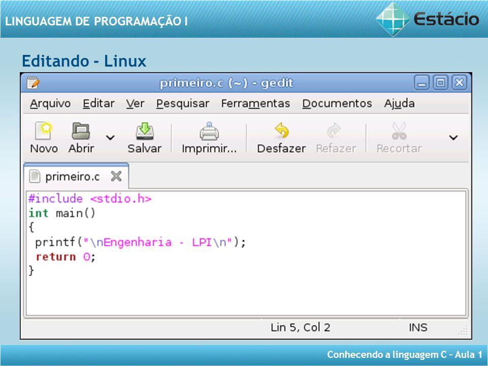 Editando - Linux