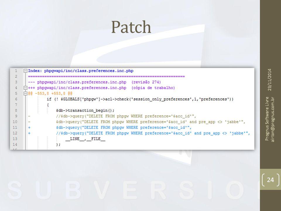 Patch 07/04/2017 Prognus Software Livre airton@prognus.com.br
