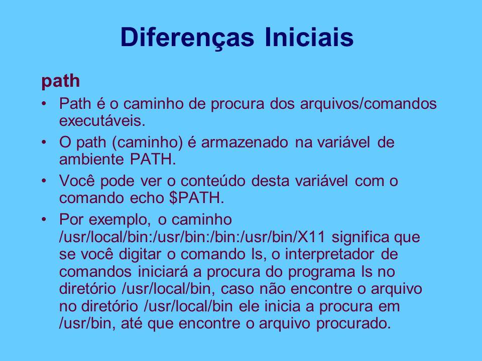 Diferenças Iniciais path
