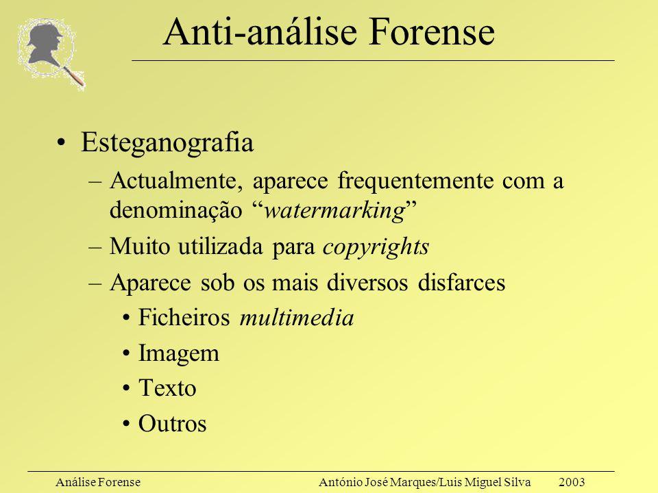 Anti-análise Forense Esteganografia