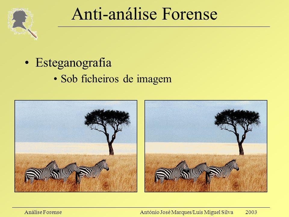 Anti-análise Forense Esteganografia Sob ficheiros de imagem