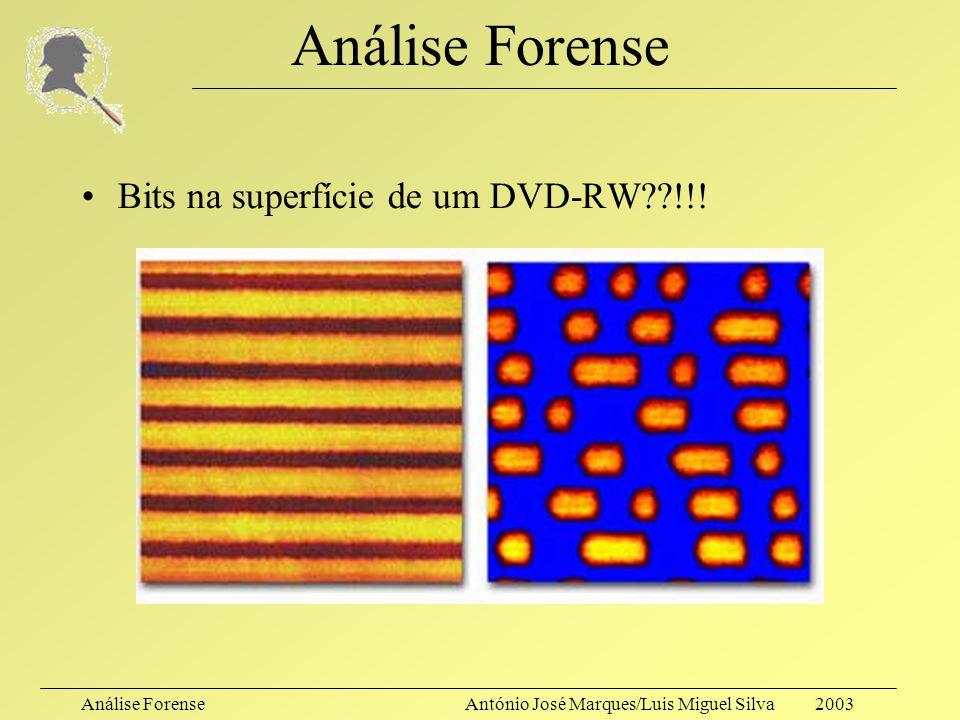 Análise Forense Bits na superfície de um DVD-RW !!!