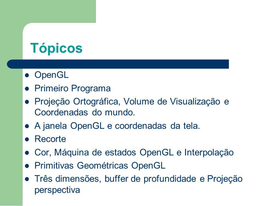 Tópicos OpenGL Primeiro Programa