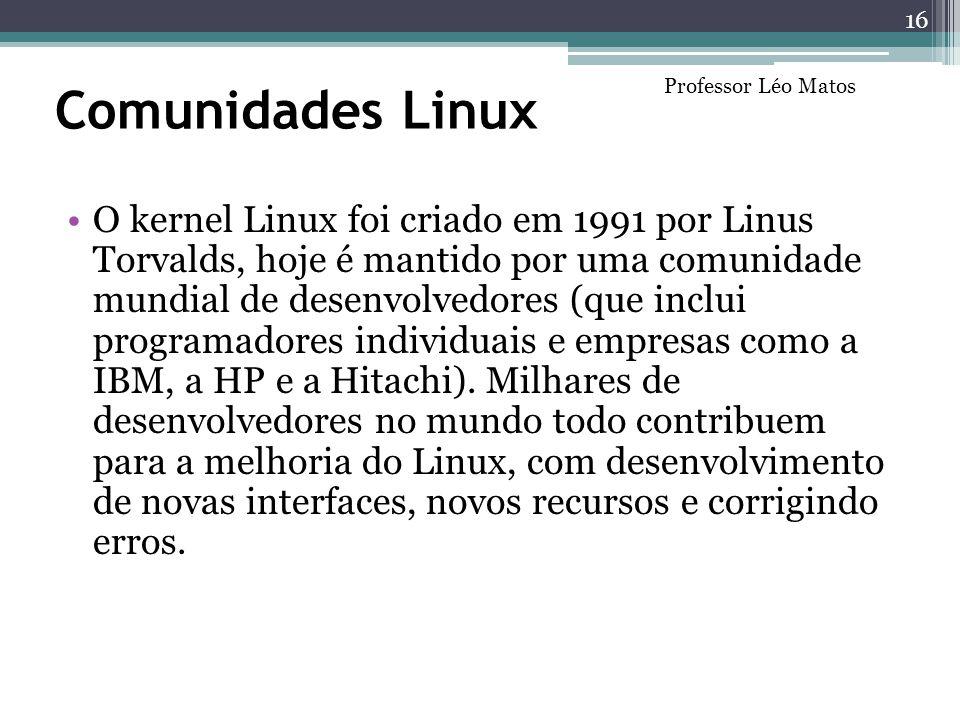 Comunidades Linux Professor Léo Matos.