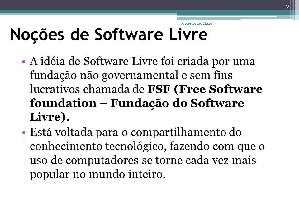 Noções de Software Livre
