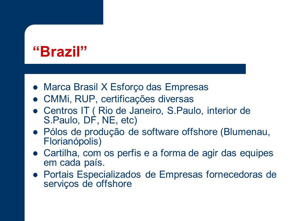 Brazil Marca Brasil X Esforço das Empresas