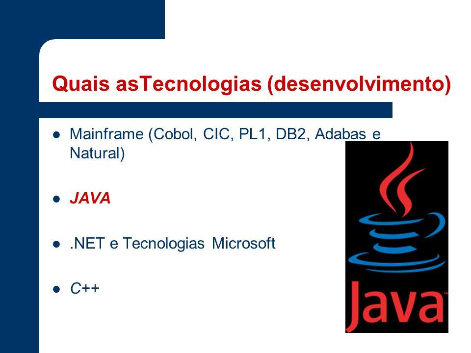 Quais asTecnologias (desenvolvimento)