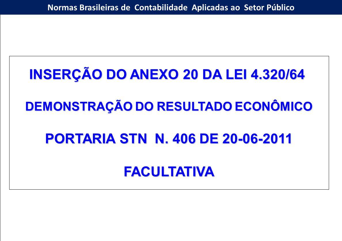 INSERÇÃO DO ANEXO 20 DA LEI 4.320/64
