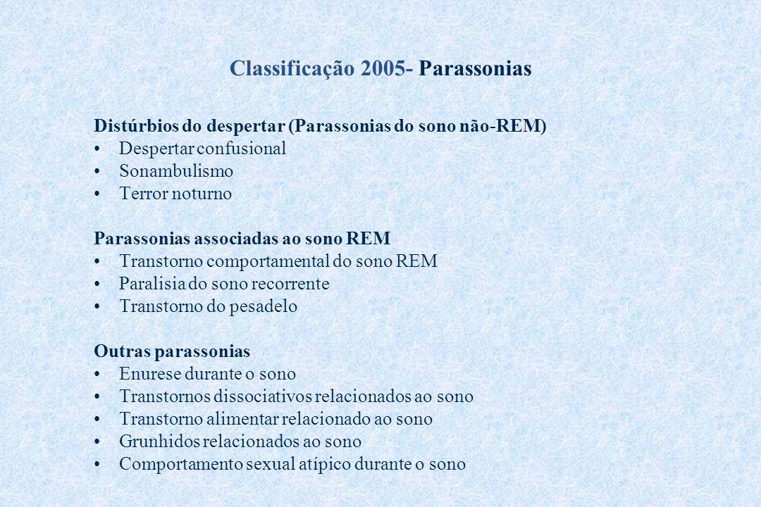 Classificação 2005- Parassonias
