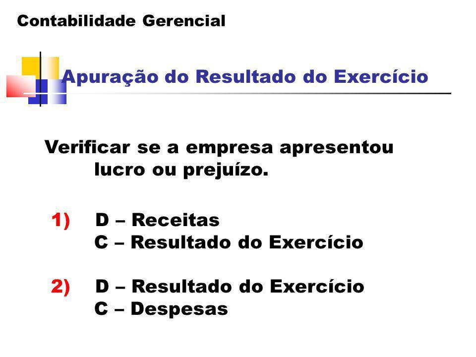 Apuração do Resultado do Exercício
