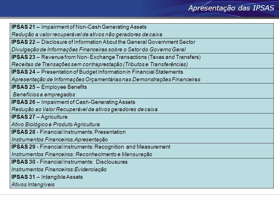 Apresentação das IPSAS