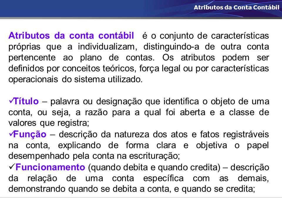 Atributos da Conta Contábil