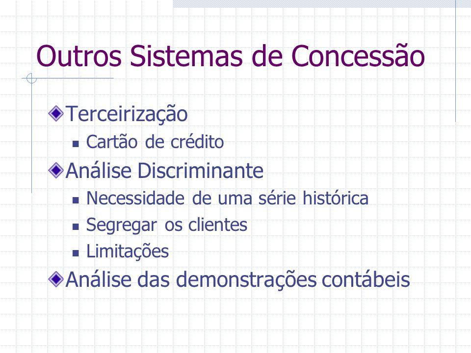 Outros Sistemas de Concessão