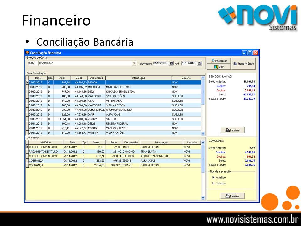 Financeiro Conciliação Bancária