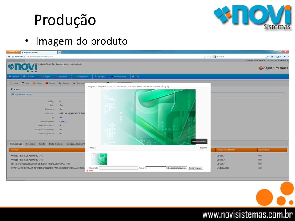 Produção Imagem do produto