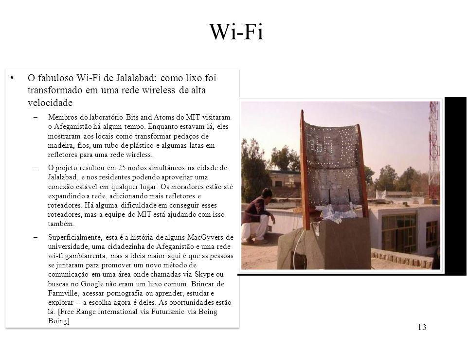 Wi-Fi O fabuloso Wi-Fi de Jalalabad: como lixo foi transformado em uma rede wireless de alta velocidade.