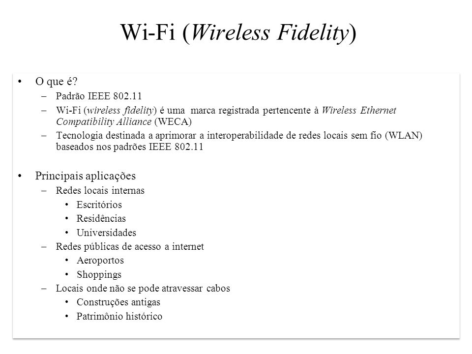Wi-Fi (Wireless Fidelity)‏
