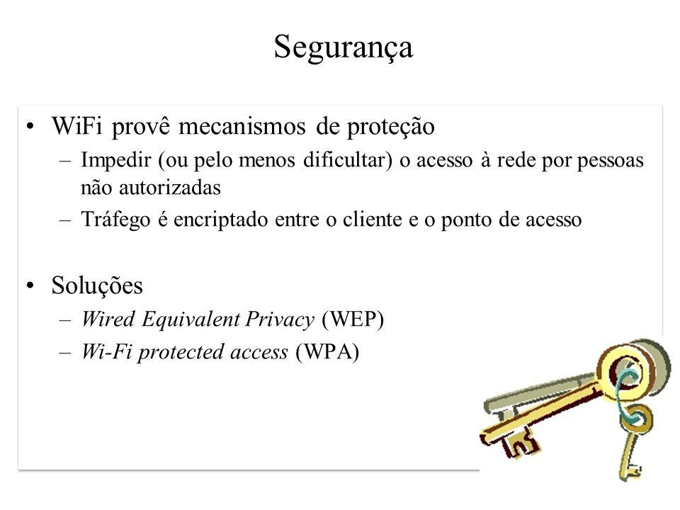 Segurança WiFi provê mecanismos de proteção Soluções