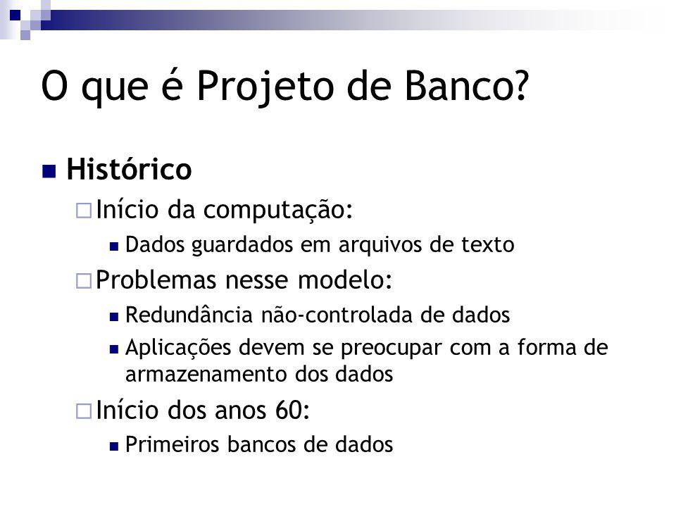 O que é Projeto de Banco Histórico Início da computação: