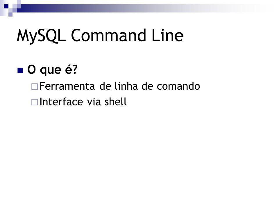 MySQL Command Line O que é Ferramenta de linha de comando
