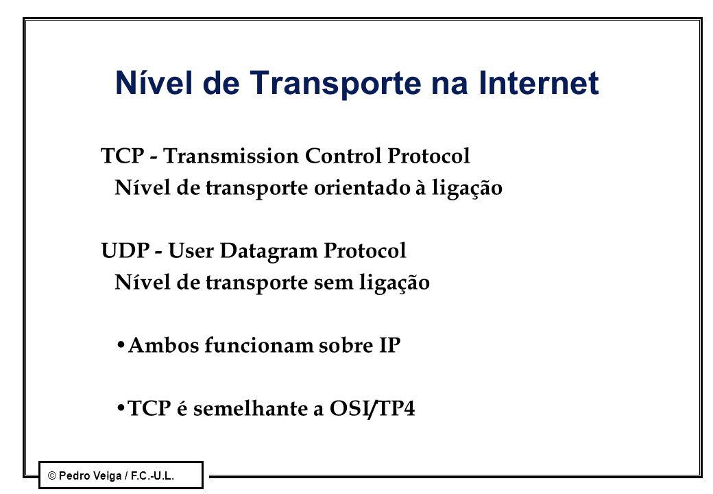 Nível de Transporte na Internet