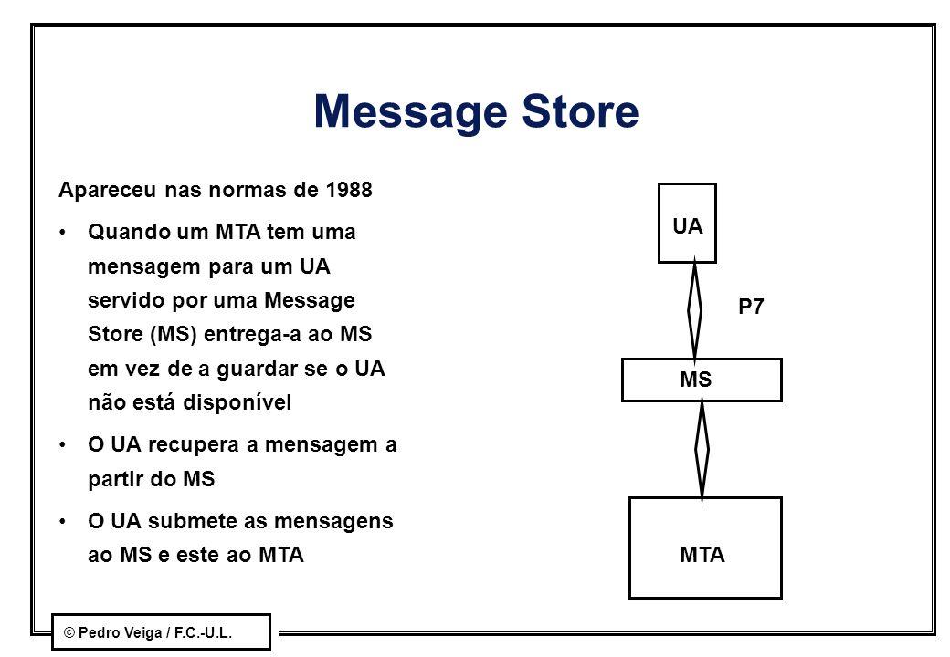 Message Store Apareceu nas normas de 1988