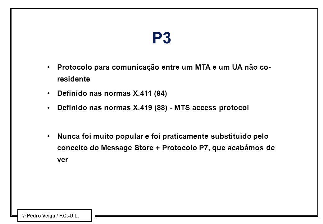 P3 Protocolo para comunicação entre um MTA e um UA não co-residente